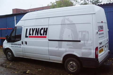 Van signage for Lynch