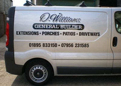 Vehicle signage for building company
